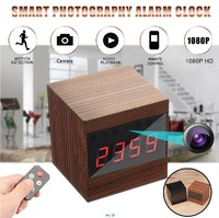 Brown A10 HD 1080P WIFI Night Vision Camera Electronic Clock IP Camera