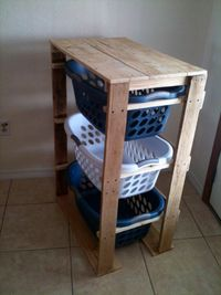 Ana White   Build a Pallet Laundry Basket Dresser by Pallirondack   Free and Easy DIY Project and Furniture Plans