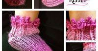 Picot BOOties Loom Knit sock booties for baby
