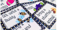 FREE Bee-Themes Positive Classroom Behavior Coupons and lots of other ideas for a decorating your classroom with a bee theme.