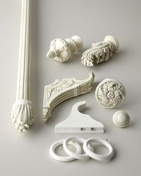 Aged White Curtain Hardware at Horchow. Accessories for the curtains. #Horchow