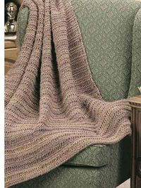 Afghan & Throw Knitting - Textured Afghan Knitting Patterns - Dad's Drop-Stitch Throw