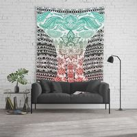 Indian Painted Elephant Wall Tapestry.