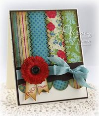 great scraps idea with no-sew zigzags using piercing tool & early espresso colored marker.