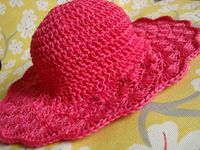 "Flared Shell Brimmed Hat ~ free pattern. I love the way she explains the 'head' size, so you can change from child to adult size. What a great summer hat ~ I LOVE this '�""�'"