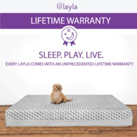 Layla Sleep gives a lifetime warranty on its copper infused mattress that is totally made in the USA. Enjoy Free Shipping & browse our great selection of Mattresses, air cool memory foam mattress and more! Call us at 855-358-1676 for any queries.