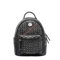 MCM MINI DIAMOND VISETOS BACKPACK IN BLACK