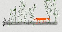 Fox music illustration by Heng Swee Lim