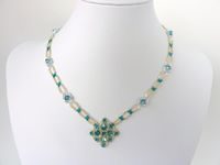 FREE beading pattern for Celtic Medallion necklace and earrings