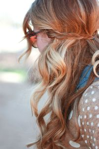 golden-blonde-hair. Love braid