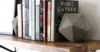 With the help of recycled cardboard and quick-drying concrete, these modern bookends with high-end appeal are budget-friendly and easy to make at home. Things Y
