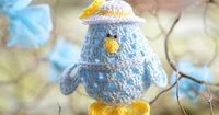 Little Chick Easter Egg Crochet Pattern by Sabina Poonwassies
