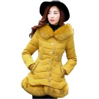 Jfca Style Fashion Fur Collar Hooded Winter Women Coat Elegant Thicken Warm Female Outerwear ParkasCM447 £45.00
