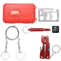 X-TOOLS M2 Outdoor Emergency SOS Survival Kit Camping Equipment Box Self-Help Box for Camping Hiking Saw Whistle Compass Tools
