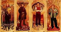 Beautiful Damn Heroes - Art Nouveau Tributes to the Men of Firefly