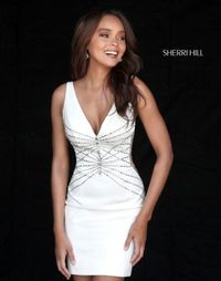 Ivory 51440 Sherri Hill Short Fitted Homecoming Dress Sale