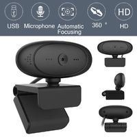 Rotatable 1080P HD Webcam USB PC Laptop Camera Video Recording with Microphone