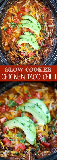 Slow Cooker Chicken Taco Chili has become one of my go-to weeknight dinners. It's so easy to put together and it makes a hearty and delicious dinner. Since I wo