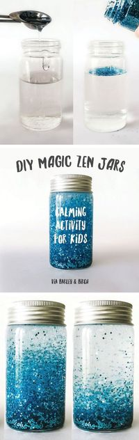 This quick and easy magic zen jar DIY is the perfect meltdown antidote and a great way to help kids learn and utilize the power of meditation.