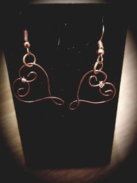 Wire Wrapped Heart Earring- 2 Styles and 4 colors to choose from $7.00