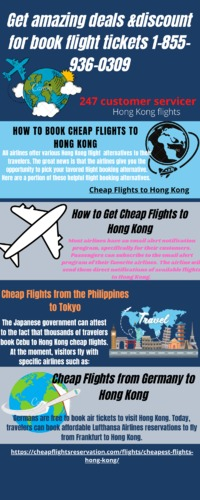 All airlines offer various Hong Kong flight alternatives to their travelers. The great news is that the airlines give you the opportunity to pick your favored flight booking alternative. Here are a portion of these helpful flight booking alternatives.