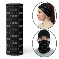 Custom Solid Color Neck Gaiter Face Covering Mask with logo Personalized Facemask Gaiter Bandana Head Shield Adults Protection Scarf Head $16.95