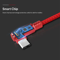 TOPK 90 Degree Reversible Micro USB Charging Data Cable 3.28ft/1m for Honor 8X Xiaomi Redmi Note 5