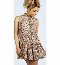 boohoo Betty Floral Sleeveless Shirt Dress - multi Nineties revival reigns supreme with the spaghetti-strap slip dress stealing the what's hot top spot. Feminine, floaty fabrics and floral prints are our fave, with midi lengths a must-have. Go boho ...