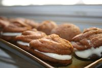 Pumpkin cake meets maple cream cheese in these heavenly whoopie pies