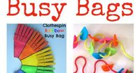 Brilliant busy bag ideas - lots of invitations to play