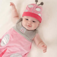 """When cuteness, comfort and coziness count, this leaf-loving ladybug always comes through! Your new little lady will sleep safe and sound in our """"Snug as a Bug"""" Snuggle Sack, and she'll look adorable doing it! Just another beautiful Baby As..."""
