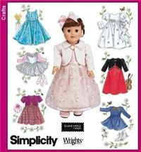 """American Girl 18"""" DOLL Clothes PATTERN Jacket Dress"""