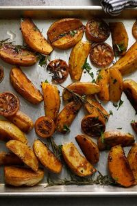 A potato doesn't need much else other than oil, salt and a hot oven to be truly delicious But dust them with smokey paprika, and roast them alongside tangy lemo