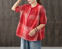 Red ladies top,40th birthday gifts for women,womens loose top,tops,summer tops,large size tops,gifts for her,loose fit top,casual tops $49.00