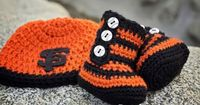 Custom Crochet Set in your Team Colors by TheSnuggleBee on Etsy, $35.00