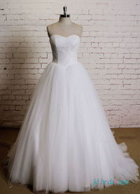H0536 Simply sweetheart neckline tulle ballgown wedding dress Model: H0536(Worldwide Free shipping)