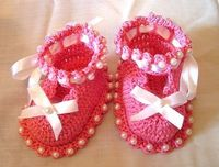 free cute crochet baby booties by annalie
