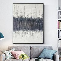 Framed wall art abstract painting acrylic paintings on canvas original art gray painting Ymipainting extra large Wall art cuadros abstracto $123.75