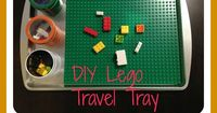 DIY Lego Travel Tray. Now you can take Legos on the go!