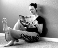 """lazy girl fitness ~ reading a book ~ Leg Raises �€"""" Sit with your back up against a wall, bend one knee into your chest. With the other leg lift it up and down 20 times on each leg."""