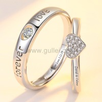 Gullei.com Forever Love Anniversary Rings Gift for Couple