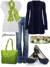 PERFECT colors!!! I'm not crazy about the shoes...I would rather see a navy ankle boot or something.