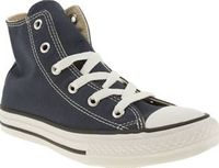 Converse Navy All Star Hi Unisex Junior Everyone can now be cool in Converse with the iconic All Star Hi in navy! This versatile style features a rubber sole and toe cap. The Chuck Taylor logo is the perfect finishing touch to this classic http://www.comp...