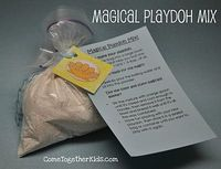 """""""Magical"""" playdough. The mix looks totally white, but add the wet ingredients and the color/scent magically appear!"""