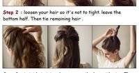 Styling a Perfect Undone Bun | PinTutorials