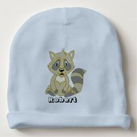 Personalized Rocky Raccoon Baby Hat