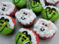 grinch, cupcakes and the grinch.