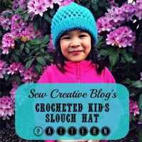 Crocheted Kids Slouch Hat Pattern From Sew Creative 3