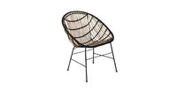 kitchen chairs Luna is a modern reincarnation of the rattan furniture trend popularized in the 50s and 60s. This chair works well in outdoor and indoor bohemian spaces. Made from genuine, responsibly sourced rattan, it also has the added benefit of polypr...