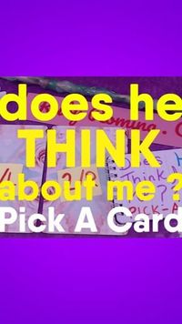 Pick A Card Reading ~ Does He THINK about YOU ?